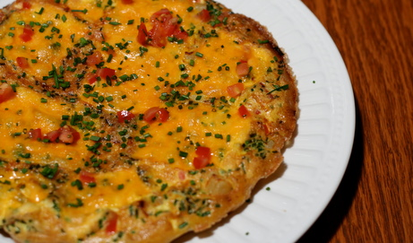 Potato and Tomato Frittata with Chives