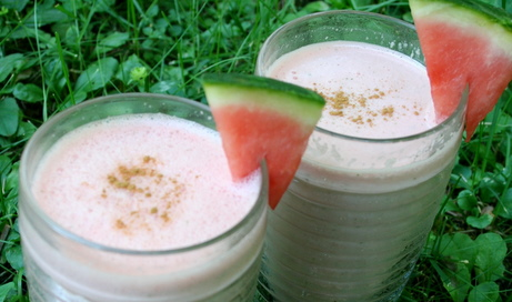 Watermelon, Yogurt and Mint Smoothie