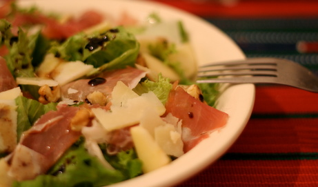 Prociutto Salad with Apple, Walnut, and Parmigiano